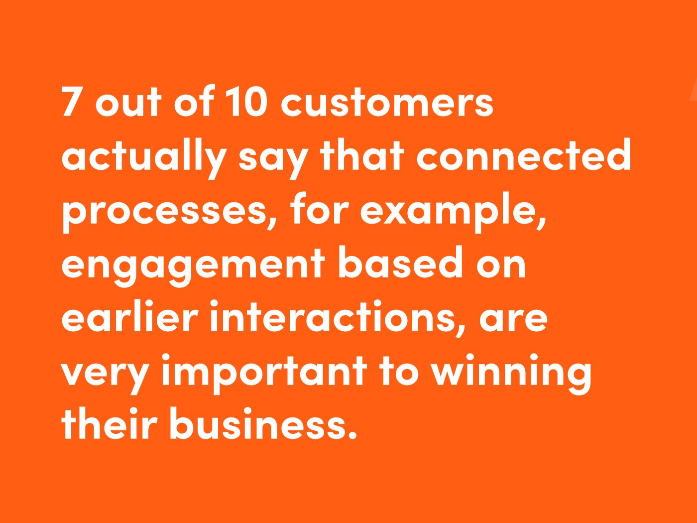 Connected services are important for customers