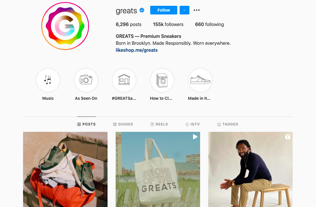 Inspiring Instagram page by Greats